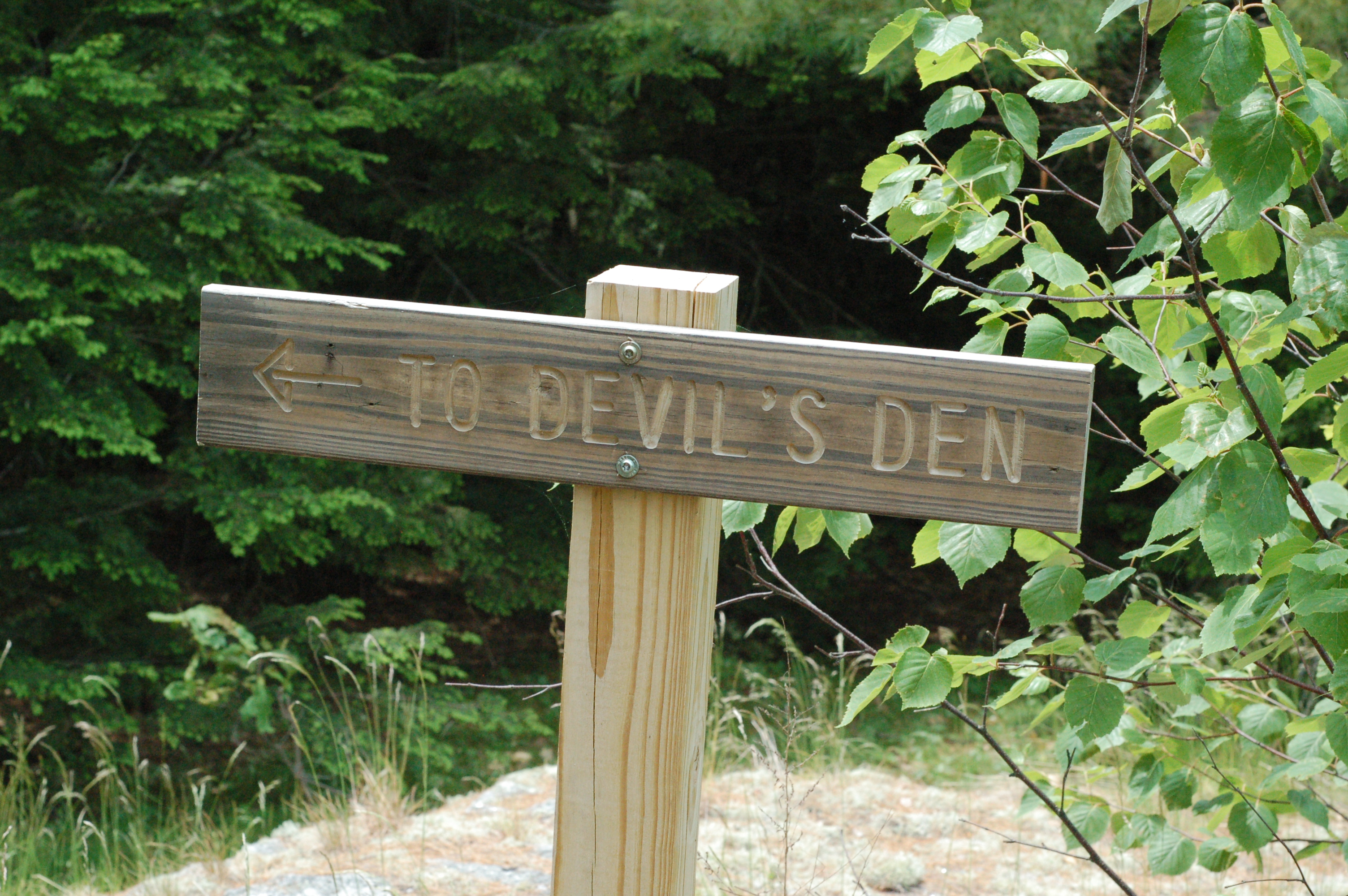 Bauneg Beg Trail Sign